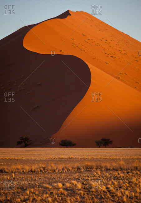 Beautiful structure of sand dunes, Namibia