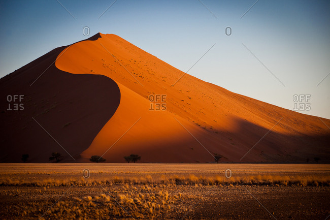 Landscape of beautiful sand dunes, Namibia