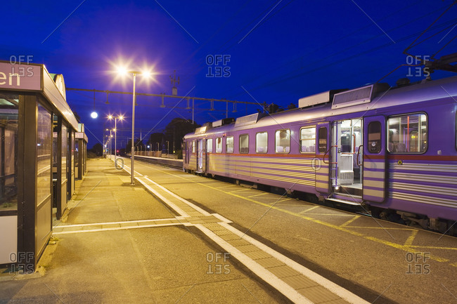 A train by a platform