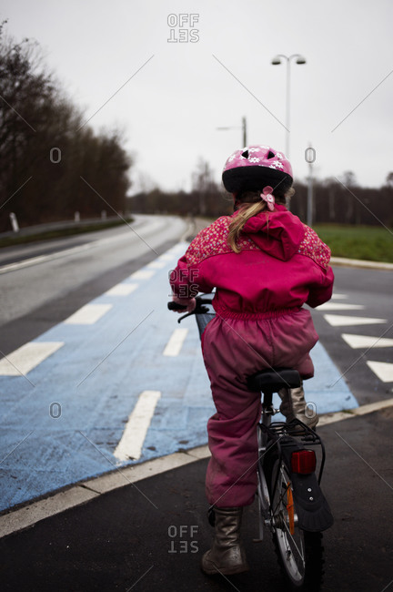 Girl on a bicycle, Denmark
