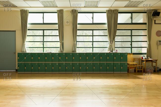Corner of dance classroom