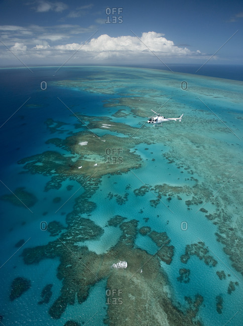 Aerial view, Great Barrier Reef