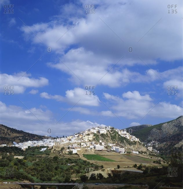 Distant View of Moulay Idriss, Morocco