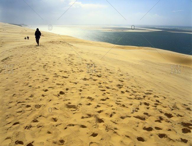 December 7, 2006: Dune de Pilat, Gironde, Aquitaine, France