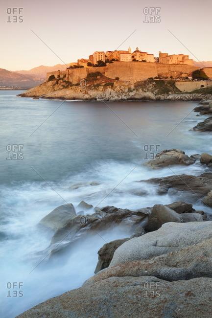 Citadel at sunset, Calvi, Balagne, Corsica, France, Mediterranean, Europe