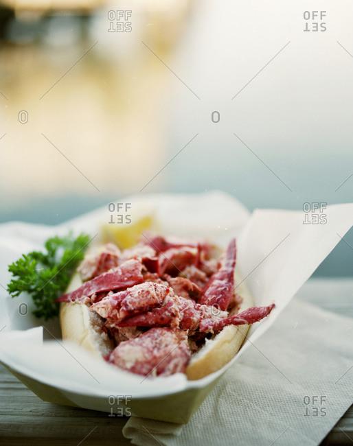 Lobster roll sandwich