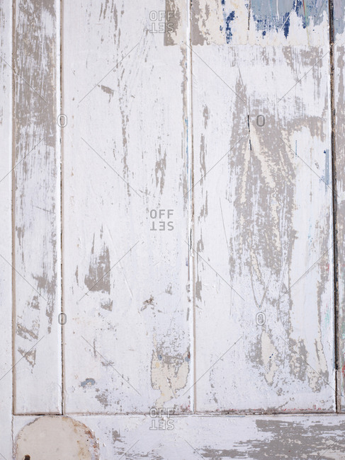 Distressed, rustic white background - Offset