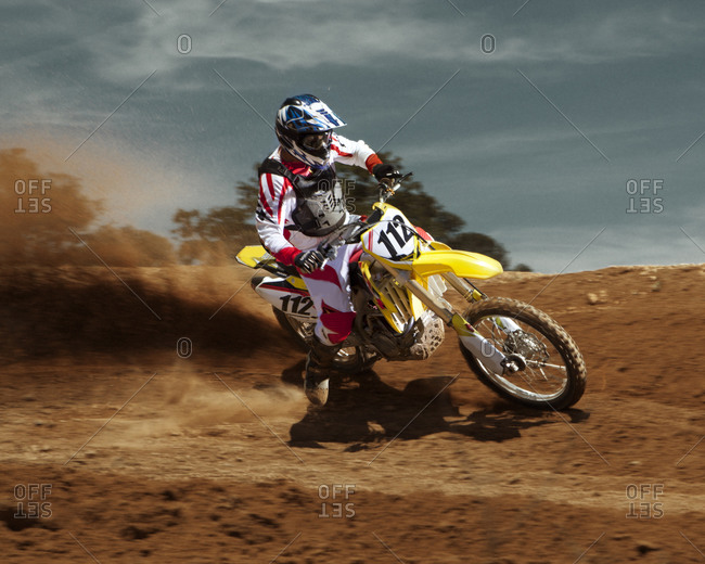 Dirt bike rider on course