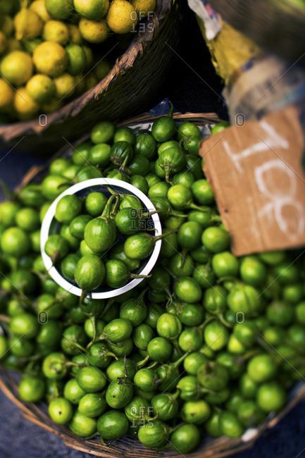 Close-up of tropical Brazilian umbu fruit