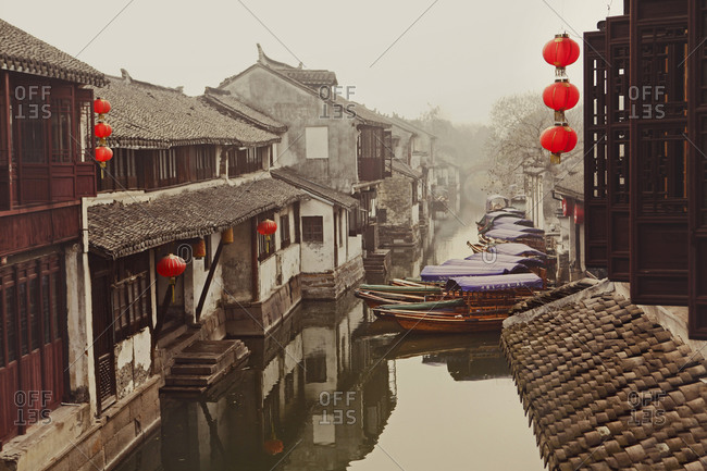 Chinese architecture in an old style water city