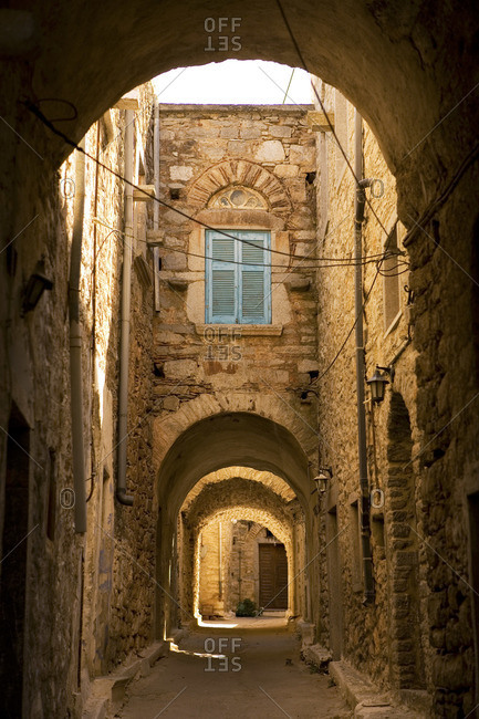 Ruined archway on Chios island