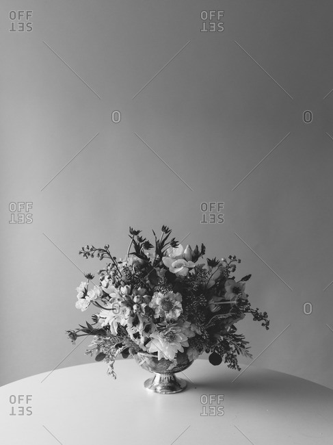 Bunch of different type of flowers in vase