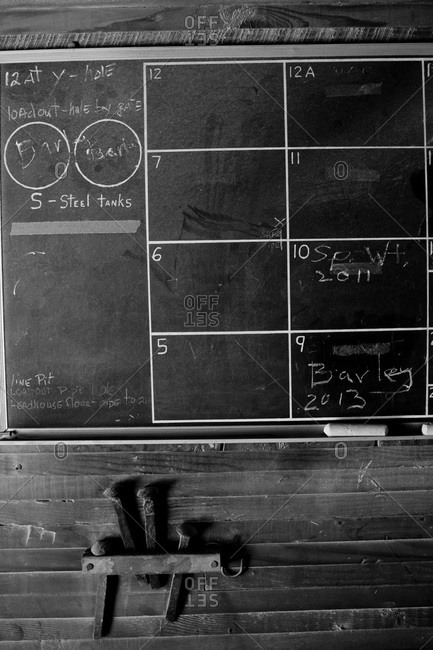 Blackboard in Farm Building