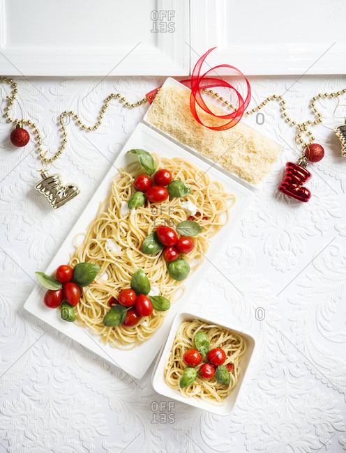 Culinary art featuring Christmas stocking