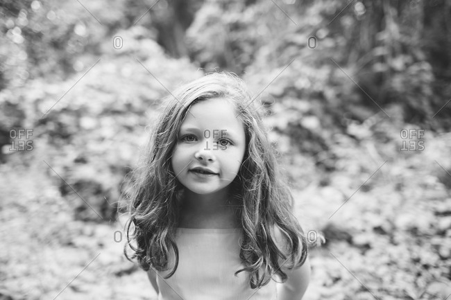 Portrait of young girl - Offset