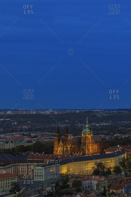 Hradcany Castle and St Vitus Cathedral, Prague, Czech Republic