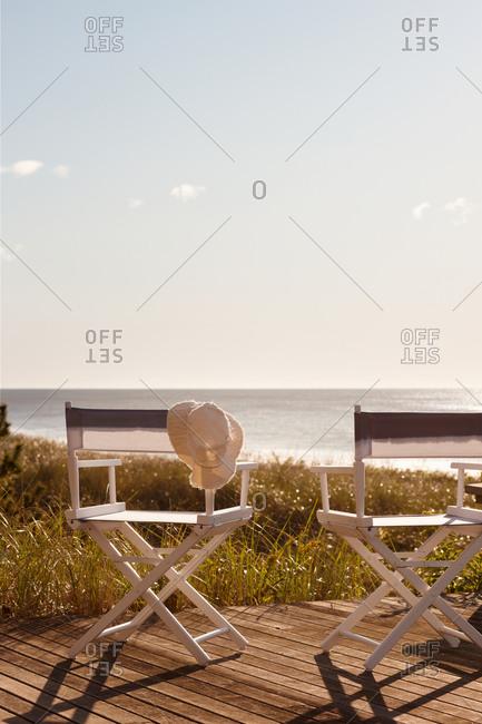 Director\'s chair on beach