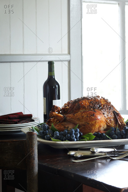 Still life of spice-roasted turkey