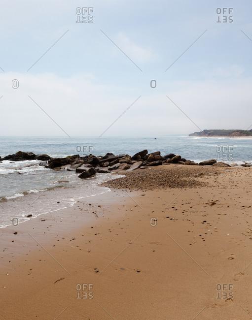 Ditch Plains beach, in Montauk, USA