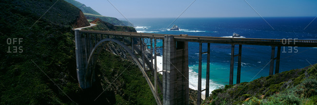 High angle view of a bridge, Bixby Bridge, Big Sur, California, USA