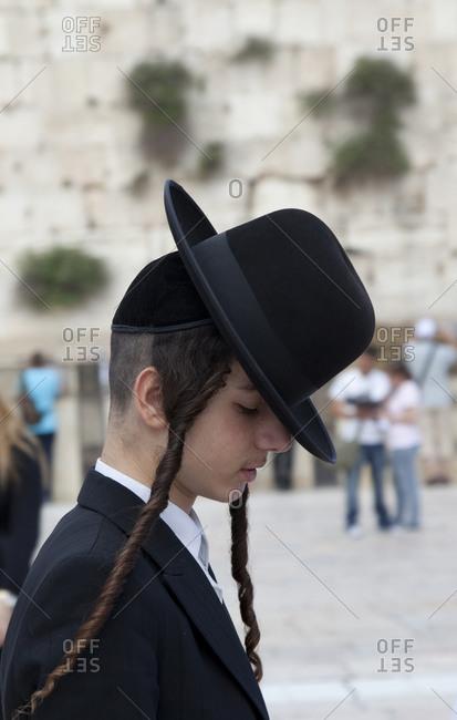 Jewish boy in traditional dress