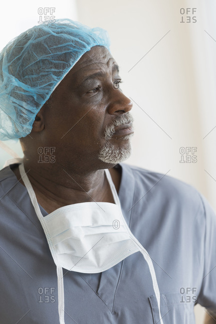 Surgeon standing in hospital