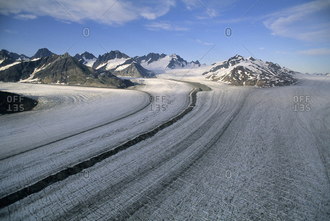 Casement Glacier,Aerial,Glacier Bay National Park,Alaska