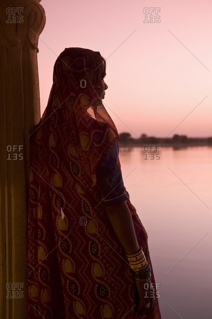 Woman in traditional Indian dress