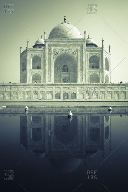 View of the Taj Mahal, Agra, Uttar Pradesh, India, Asia