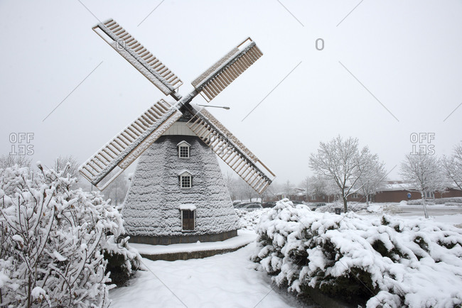 Snow covered windmill - Offset Collection