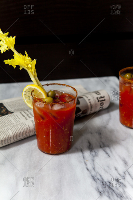 Bloody Mary served with celery