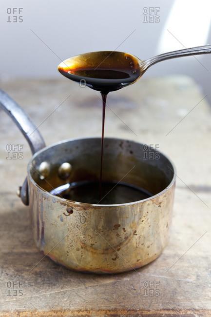 Close-up of caramelized sugar