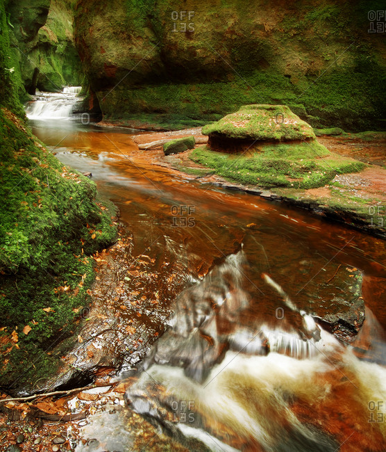 The devils pulpit at Finnich gorge