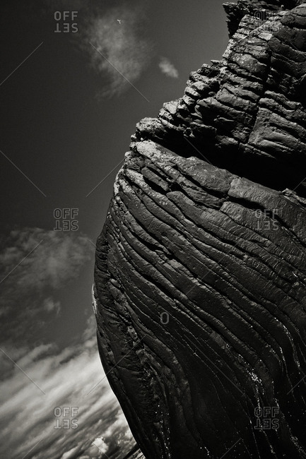 Rock formations at Tralee bay
