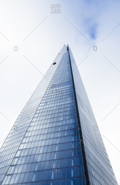 Worm's-eye view of The Shard, London, UK