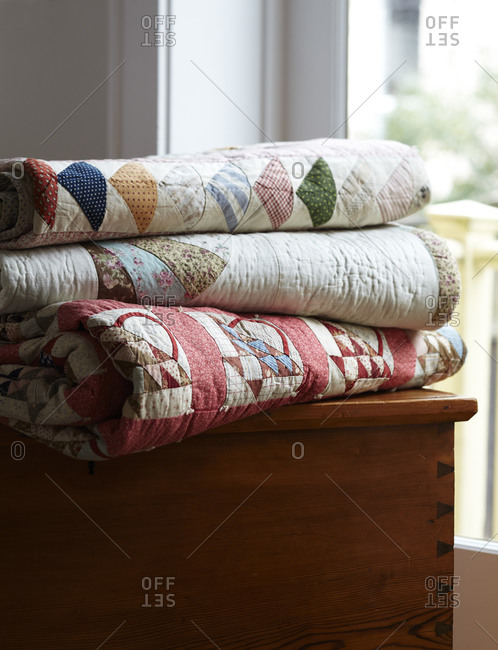Quilts on a chest