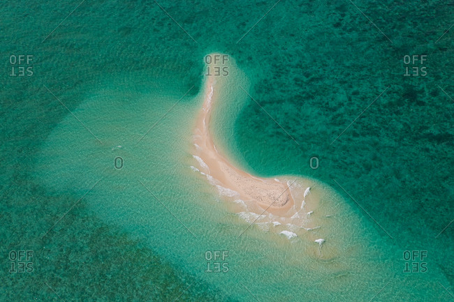 Aerial view of Undine Reef Great Barrier Reef, Marine Park, North Queensland Australia