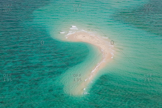 Undine Reef Great Barrier Reef Marine Park North Queensland Australia aerial