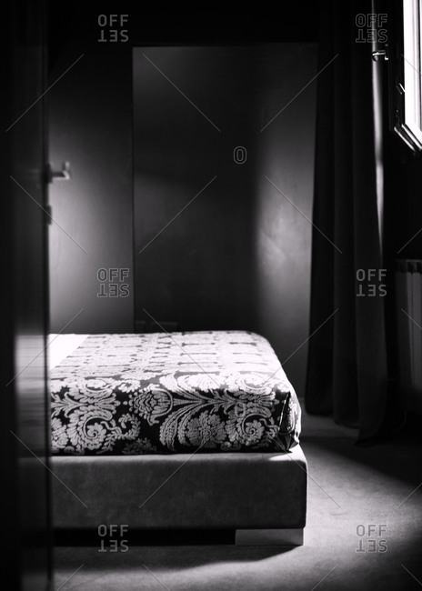 Decorative bed in hotel room