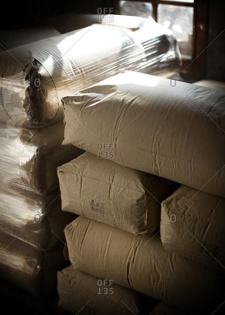 Heap of paper sacks