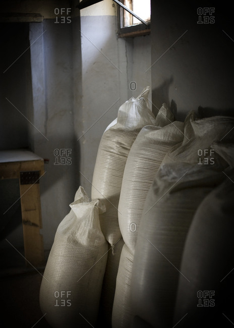 Mill product in textile bags