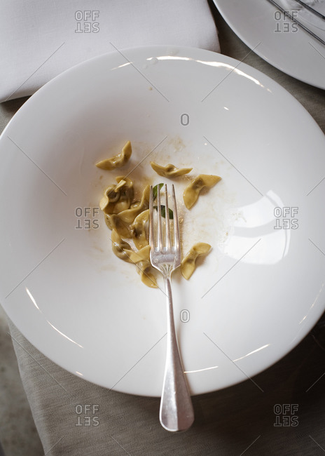 Tortellini with brown butter sauce