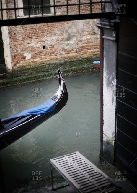 The rear of a gondola