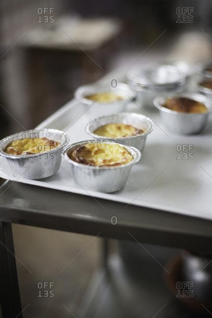 Souffles in aluminum foil cups