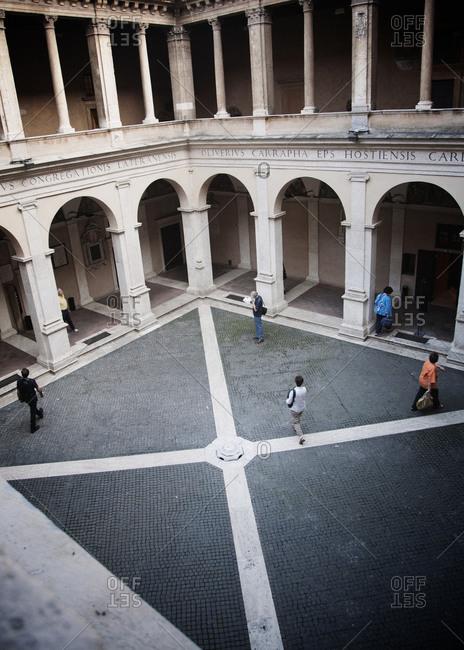 Bramante cloister of Santa Maria della Pace, Rome