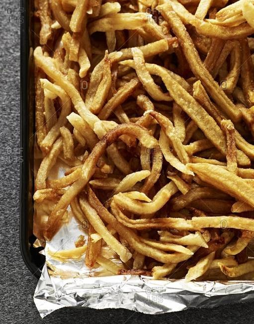 French fries fresh from oven