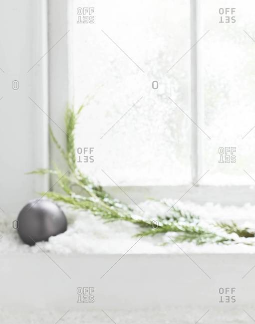 Christmas decoration in a window