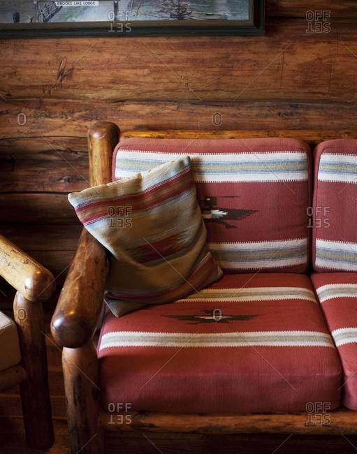 Detail of chalet style furniture
