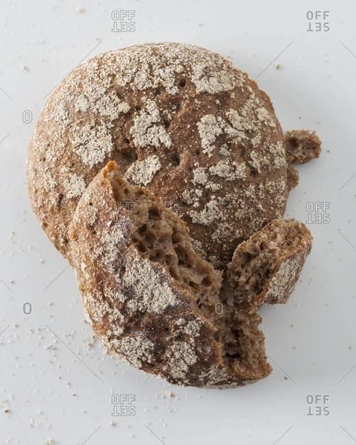 Top view of whole-grain buns