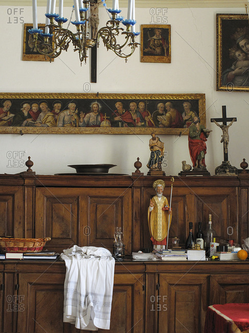 Interior of a priest's office